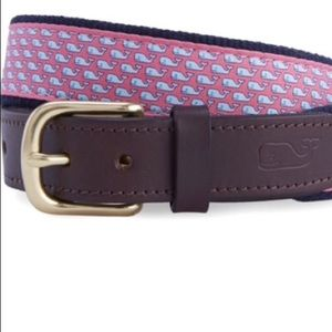 Boys Vineyard Vines Pink Whale Belt